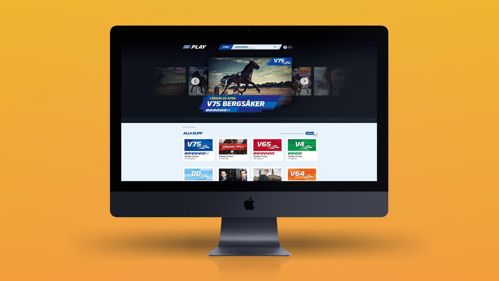 ATG Play, en webbtjänst designad och utvecklad av Phosworks