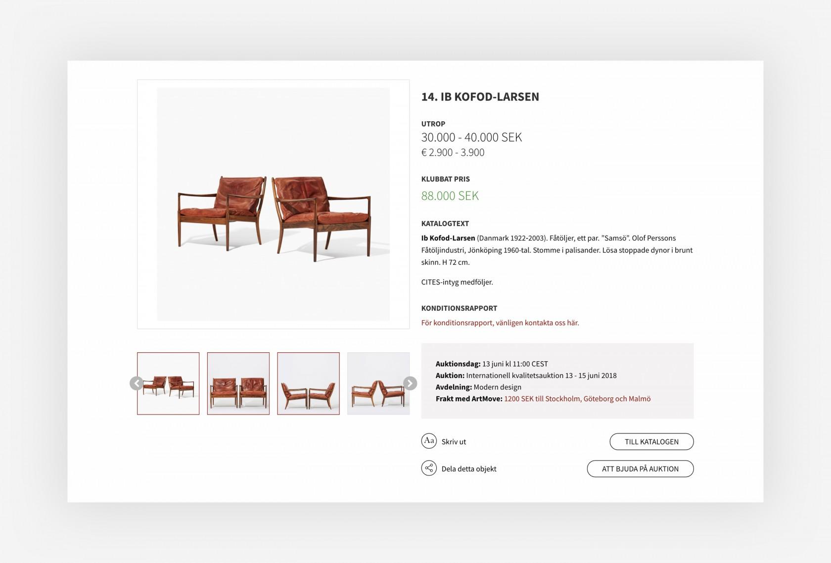 Ett utsnitt av vår design till Uppsala Auktionskammare 16