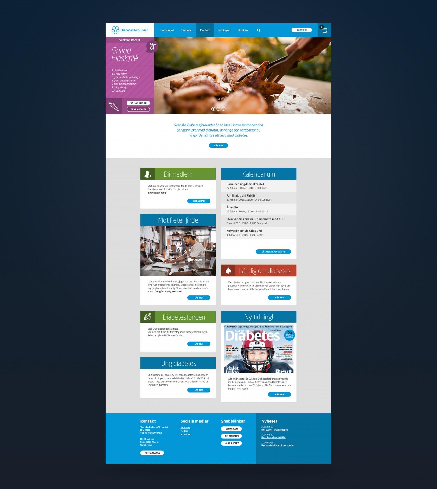 Diabetesförbundet, design och utveckling av Phosworks