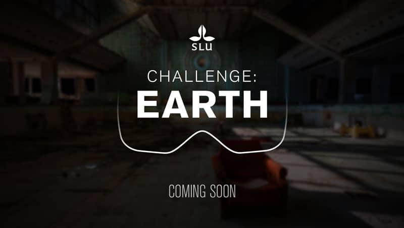 SLU challenge Earth startscreen