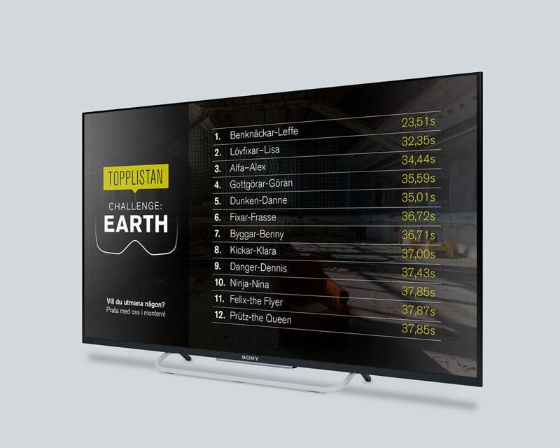 SLU Challenge Earth game high score screen