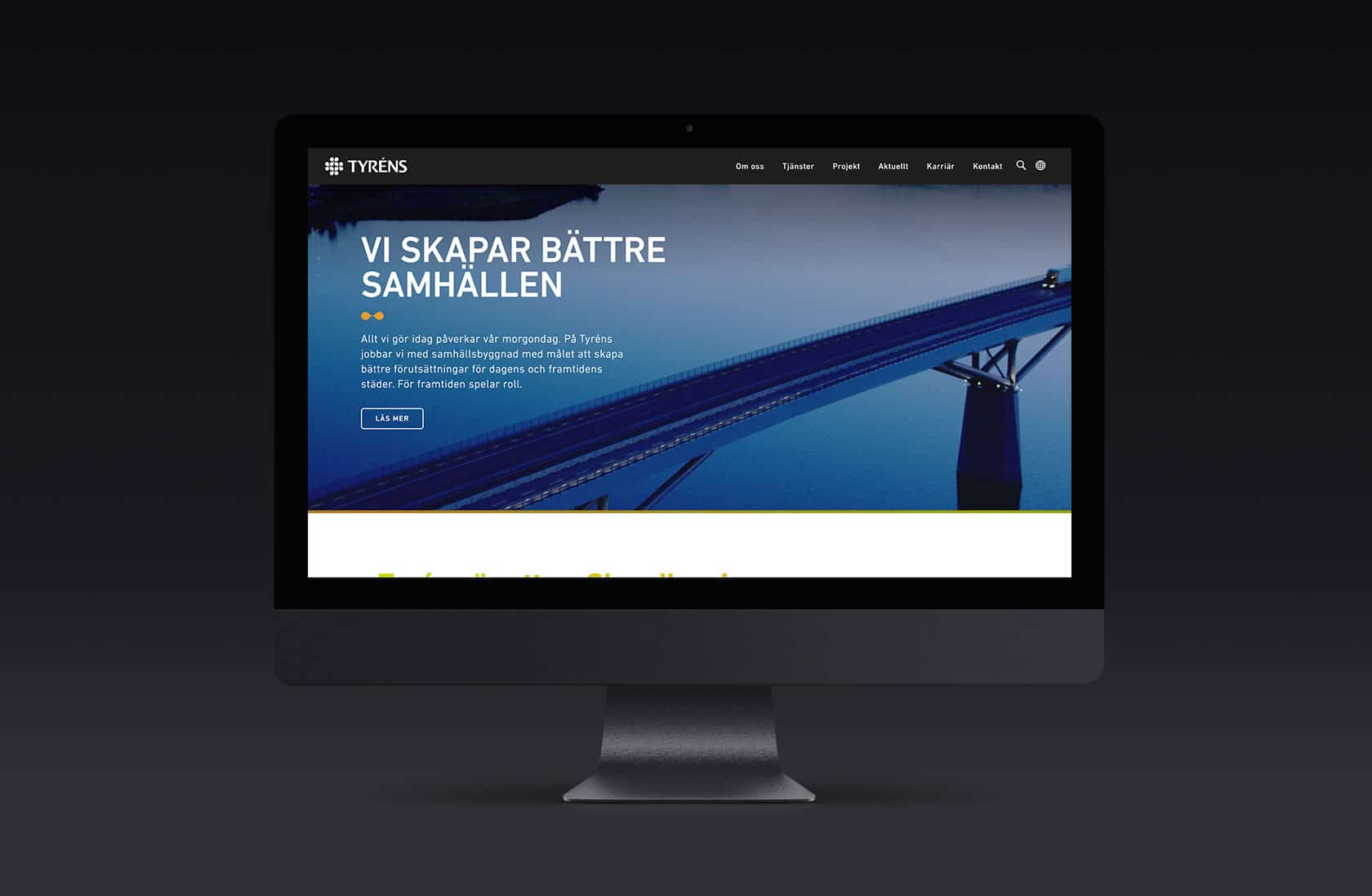 Tyréns, ny webb i Umbraco. Designad och inplementerad av Phosworks 1